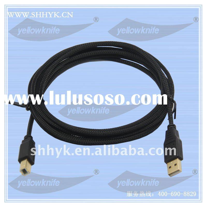 USB 2.0 gold plated connector printer cable A male to B male