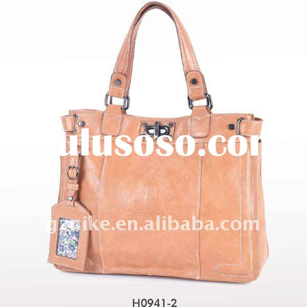 2012 newest tote bag with hung tag outside/ turn lock closure