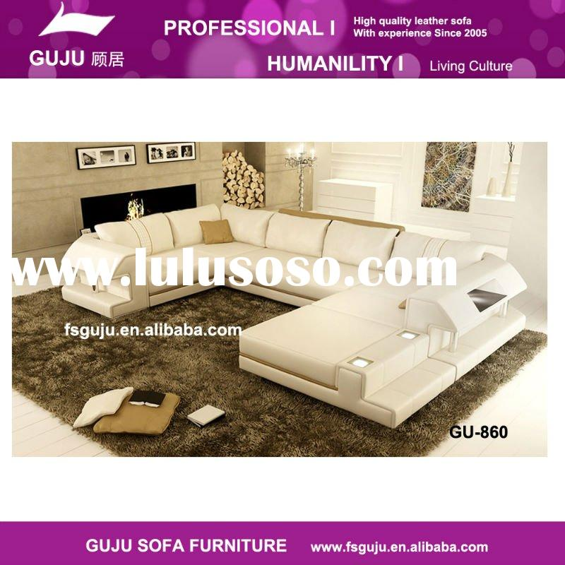 new model leather sofa GU-866 with stainless steel