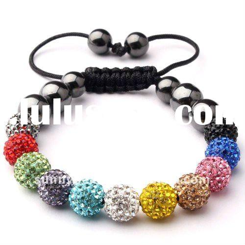 Hot Sale Shamballa Crystal Ball Bracelets S11-060