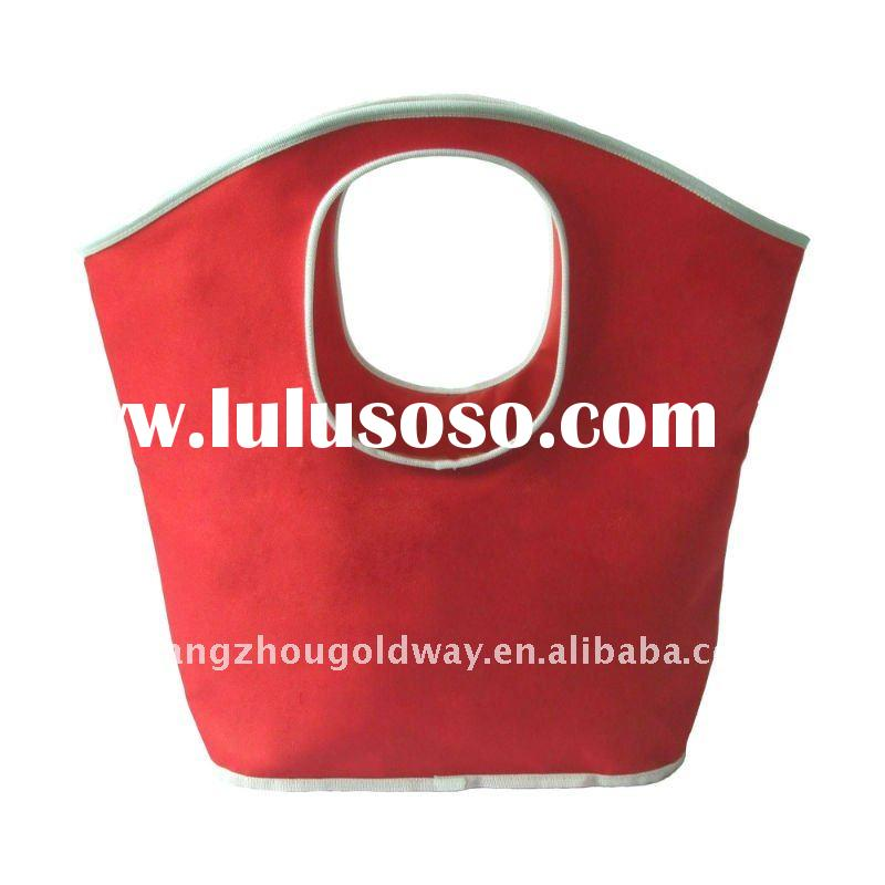 fashionable handle polyester shopping bag