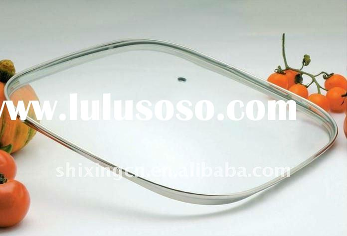 2011 Cheap Square-shaped glass lid for flying pan