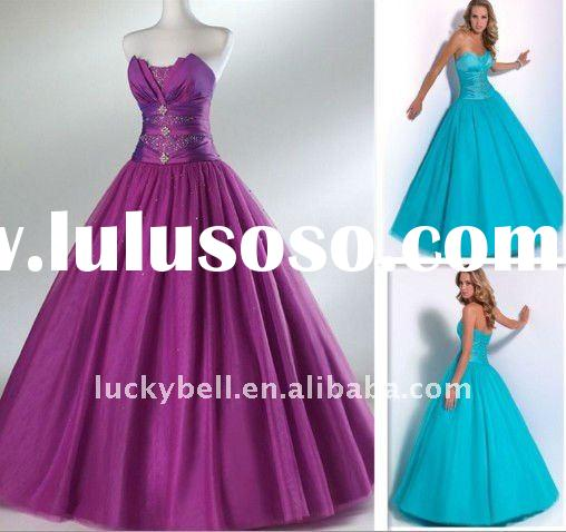 2012 Hot sale New arrival Real picture Beaded Sleeveless Ball gown