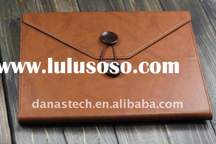 HOT SELL Genuine leather case for ipad 2