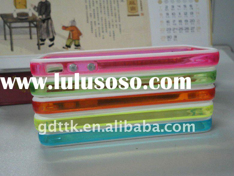 Hot double color cell phone cases for iphone 4g/s