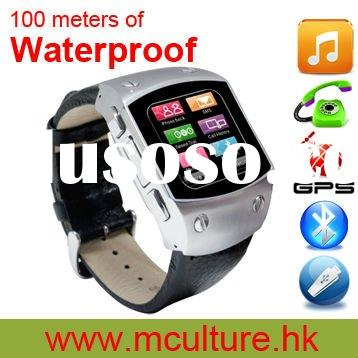 Hot selling!!100 meters of Waterproof watch phone