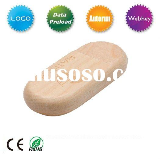 Promotinal gift wooden USB Flash drive with free logo