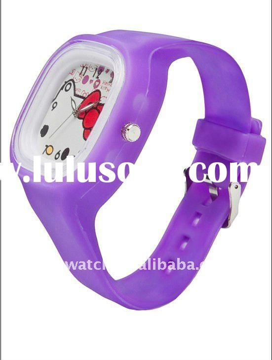 silicone hello kitty watch
