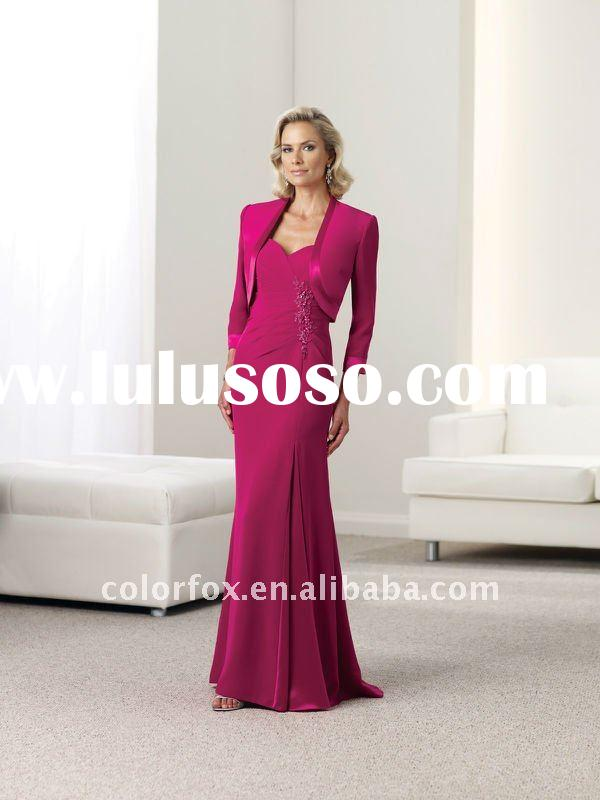 Courtlike Fuchsia Sweetheart Mother of the Bride Dress