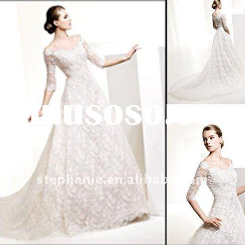 Hot sale long sleeve wedding gowns