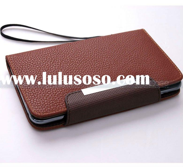 2012 new design !!! Leather case for Samsung Galaxy Note (i9220)