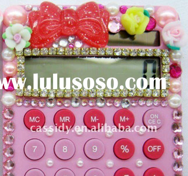 Bling crystal colorful good scientific drills calculator