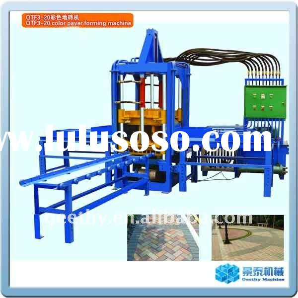 QTF3-20 high density paver cement block making machinery
