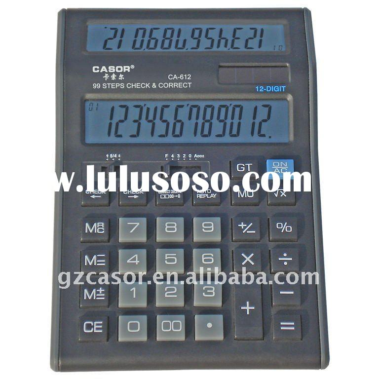 12 Digit Solar Dual Screen Office Calculator