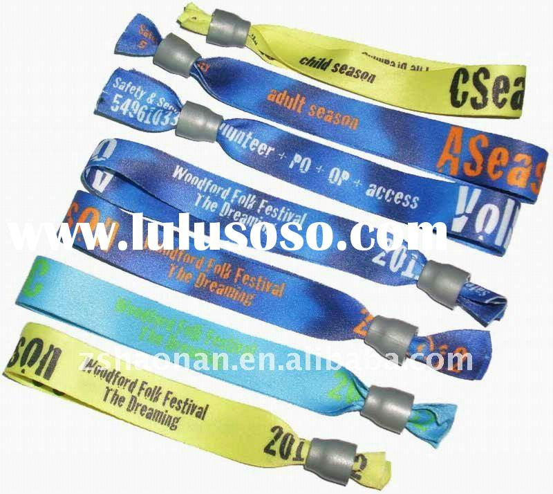 2012 Custom fabric wristbands for event