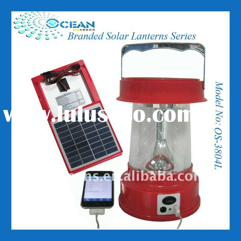 Solar Lantern with IPHONE Recharger OS-3804L
