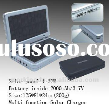 1.32W 2000mAh Foldable Multi Voltage Output Solar Charger
