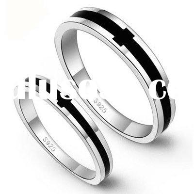 2911 Luxurious 925 sterling silver wedding ring