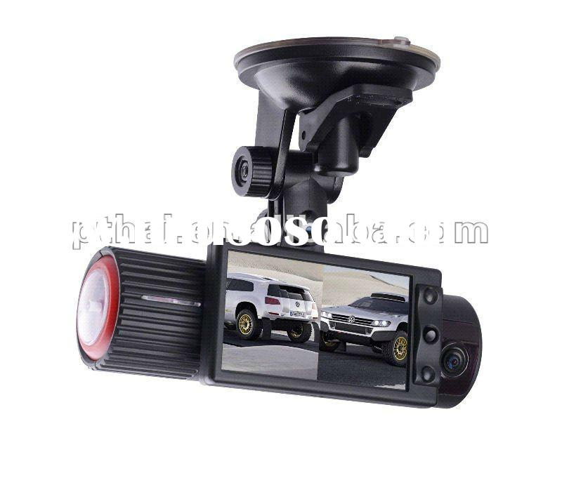 New Arrival! HD Dual Lens Vehicle Recorder Car Camera with GPS and 3D G-Sensor