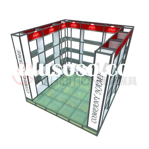 portable exhibition booth with lighting floor