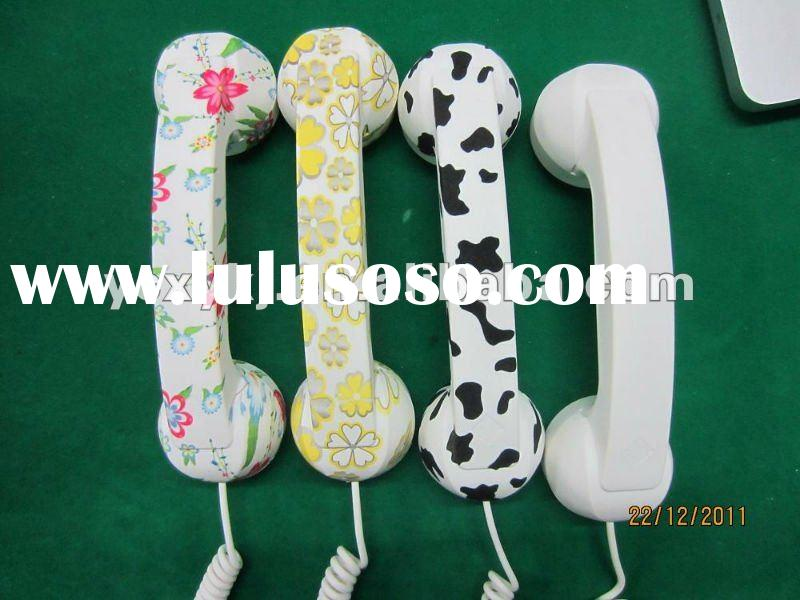 For 3.5mm plug port headset retro Moshi telephone speaker headset microphone/handset universal cellp