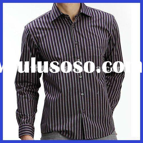 Men's stripes long sleeve shirts