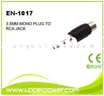 3.5mm stereo mono plug to RCA jack audio adapter audio connector EN-1017