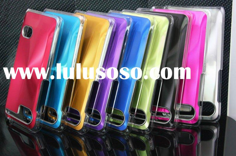Aluminum hard cover case with CD decoration for HTC holiday/raider/vivid