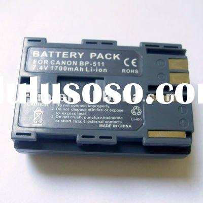 High Capacity Replacement Camcorder Battery for BP-511A, BP-514, BP-512 Fit CANON ZR90, ZR85, ZR80