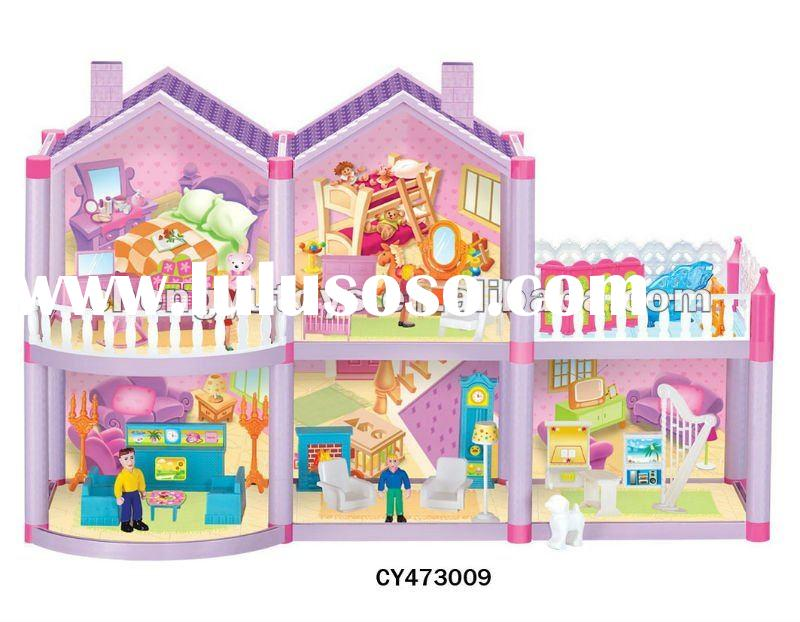 Hot Sale Plastic DIY Villa For Children CY473009
