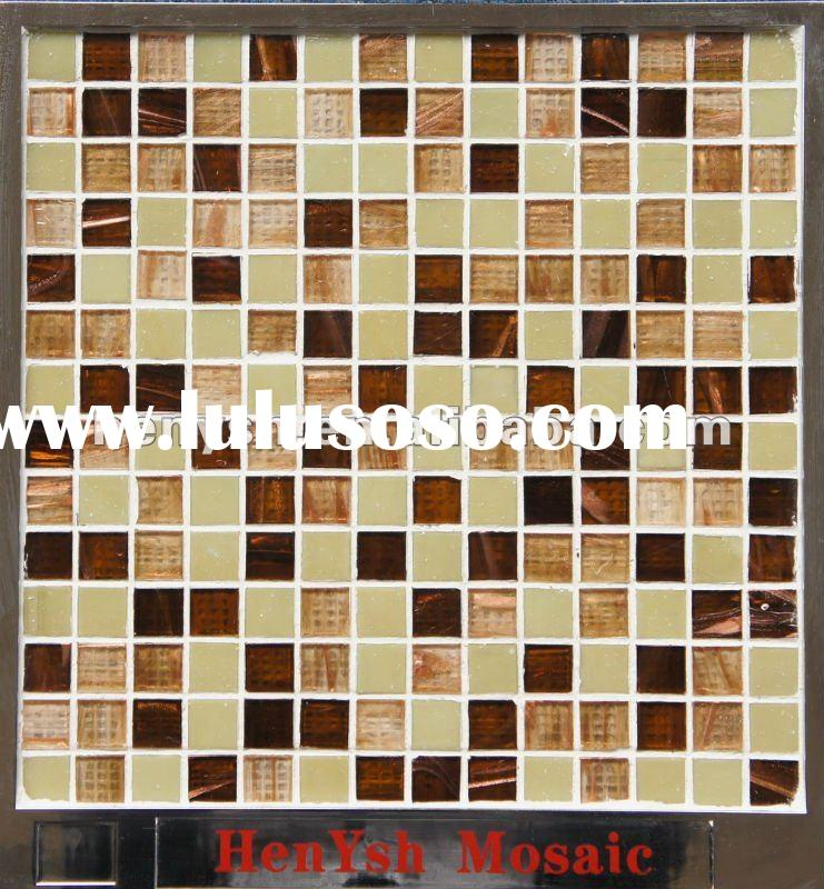 """New mixture Glass mosaic,yellow mosaic+gold line mosaic, """"Fruitcorn""""--good material for sw"""
