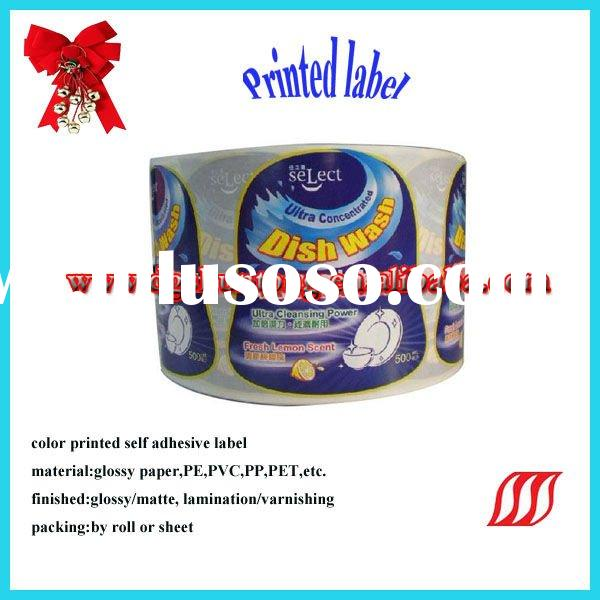 latest color printed self adhesive label for Christmas
