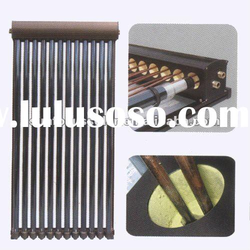 u solar collector with double copper manifolds