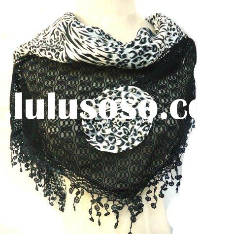 hot and best selling fashion flower scarf 2011-2012 spring and autumn