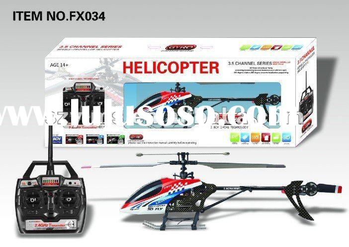 2.4G single propeller three point five channels rc helicopter