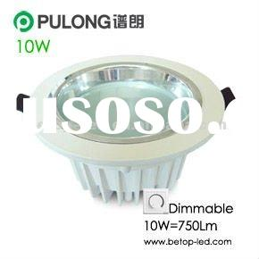 750Lm Dimmable 10W LED downlight