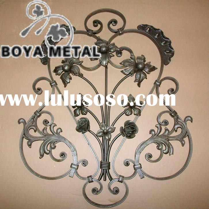 Decorative Wrought Iron Cast Panel