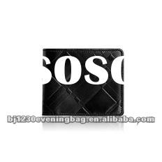 New fashion black color leather wallet 018