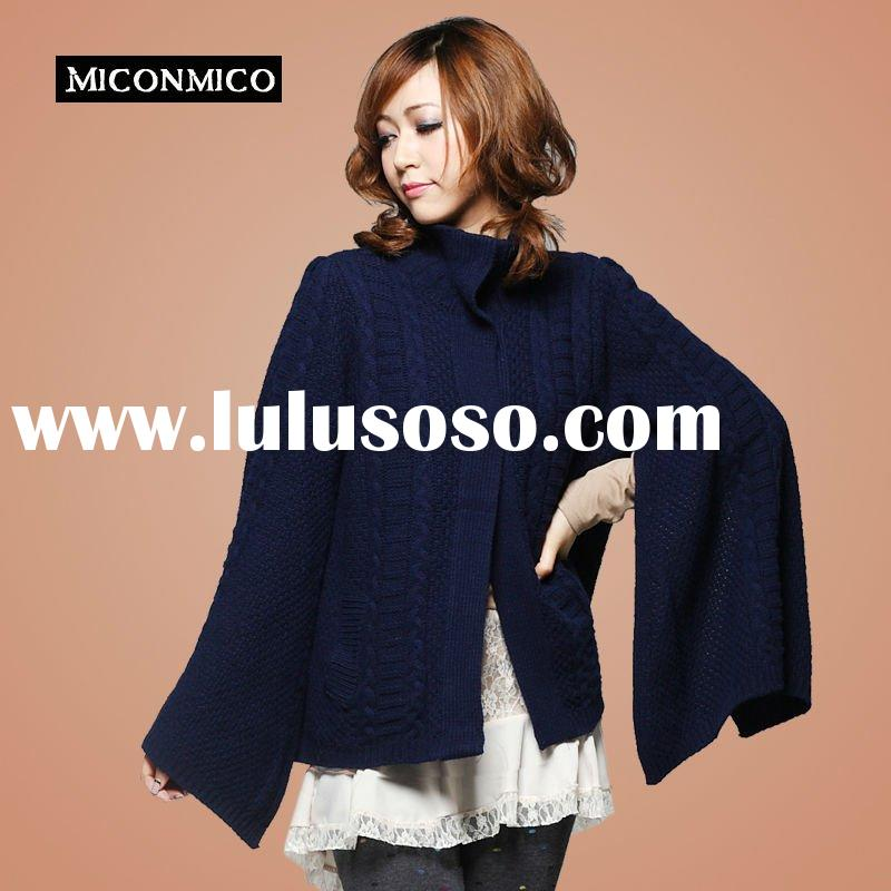 2011 Ladies' high fashion cardigan bat sleeve hot selling