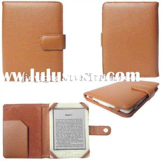 Magnetic closure Pu Leather Pouch Case Cover for Amazon Kindle 4 4th Generation Edition