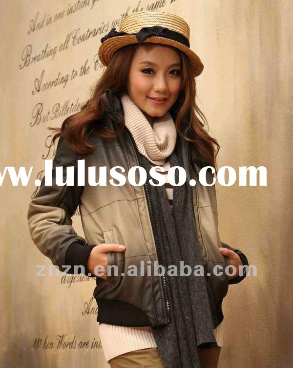 fashion winter leather jacket for women