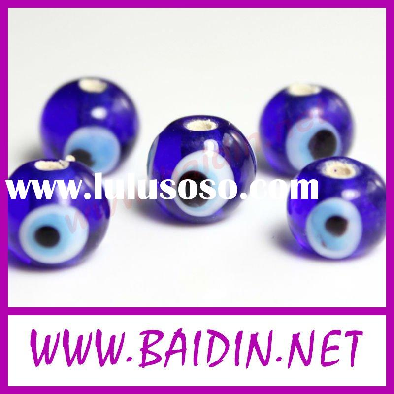 wholesale blue acrylic evil eyes beads
