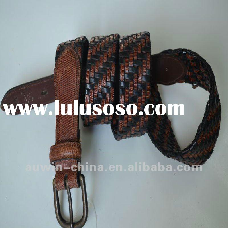 2012 Fashion Casual Womens Braided Genuine Leather Belts