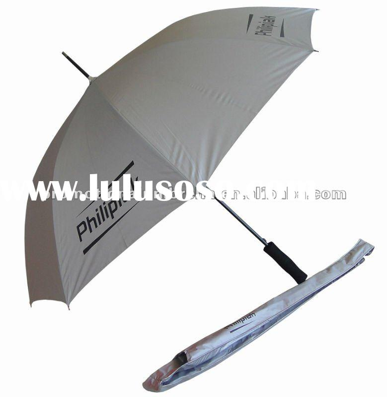 23inch UV protective screen printing promotional rain umbrella