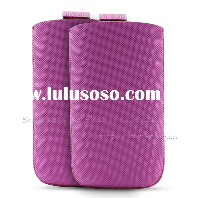 PU Pouch for iPhone 4.Customized Designs and Logos Accepted