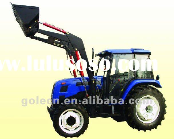 Low price compact tractor front loader with 4in1 bucket for sale price china manufacturer for Small garden tractors with front end loaders