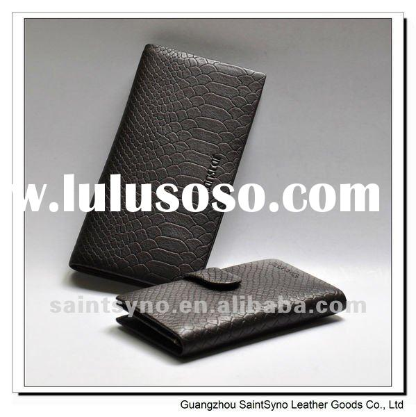 Classic long style man leather wallet