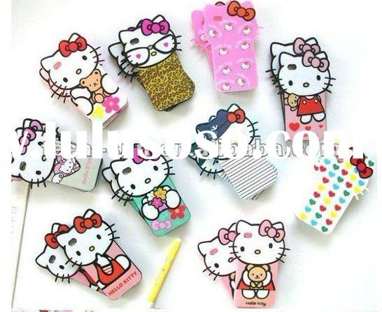 For iphone4 hello kitty case, Big head hello kitty case for iphone4 in Detail package 18 designs