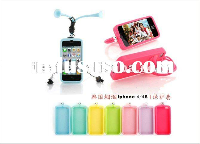 Grasshopper Silicone Case Stand Holder for iPhone 4 4S New Arrival cell phone case