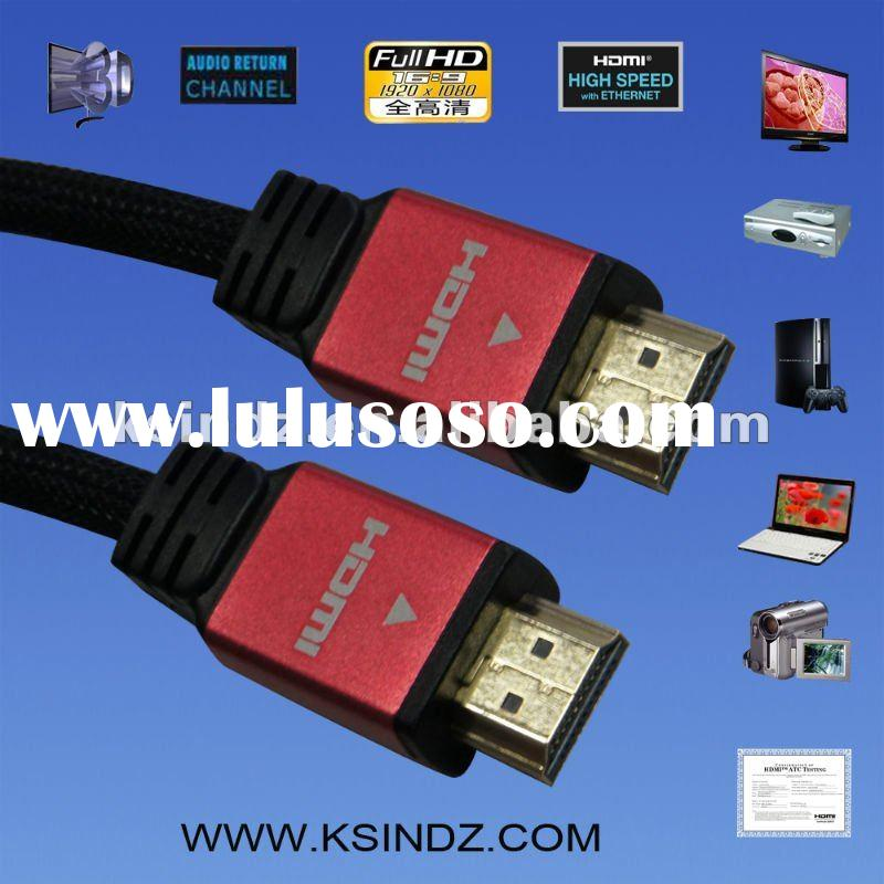 High speed 1080P hdmi cable for HDTV/DVD/PS3/STB support 3D